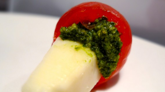 Cherry tomatoes with pesto